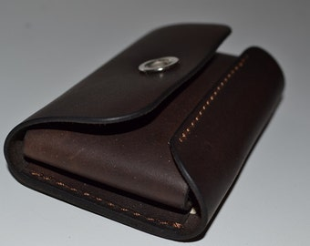 Leather Wallet-Men Wallet-Leather Card Holder Leather-Handmade