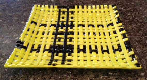 Fused Glass Dish - Weave