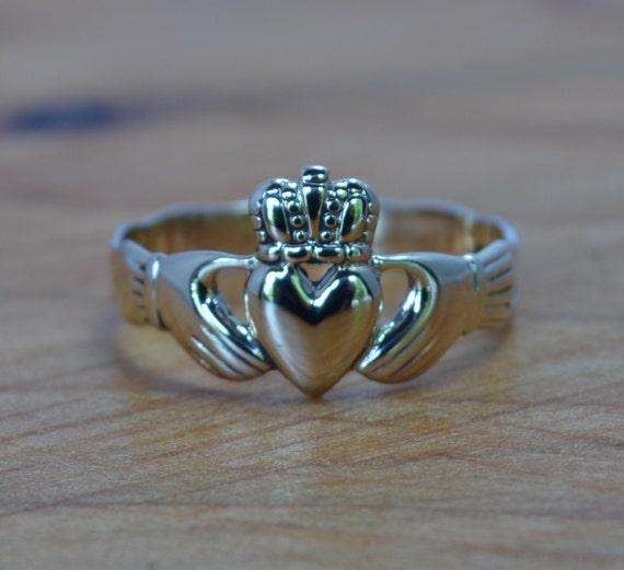 Gold Claddagh Ring Vintage Engagement Ring Claddagh