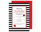 Ladybug Party Invitation (Ladybug Invitation, Ladybug Baby Shower, Ladybug Birthday Invitation, Lady Bug Invitation, Lady Bug Party, First)