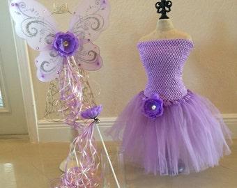 Fairy Costume, Purple Fairy Costume, Tinkerbell Costume, Tinkerbell Party, Fairy Party, Purple Fairy Wings, Purple Tutu, Fairy Party Favors