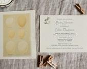 Vintage Baby Shower Invitation Baby Bird Eggs Baby Shower Invitation