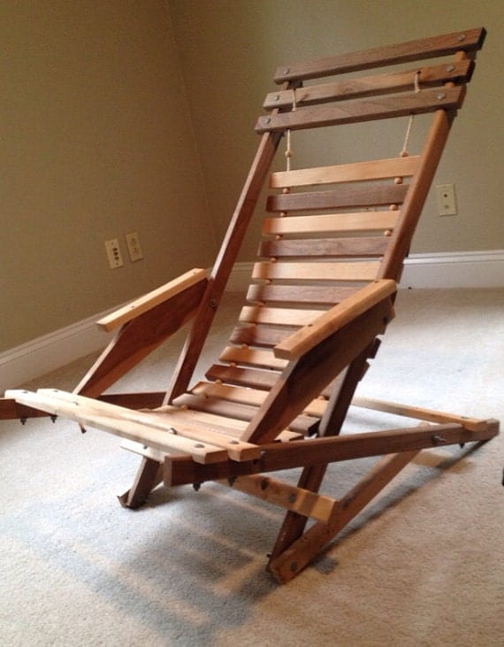 Wooden Foldable Adirondack Chair Wood Fold Up Lounge Chair