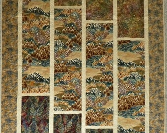 Mountain Gold lap quilt or wallhanging