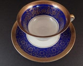 "Beautifully Detailed German ""US Zone"" Bavarian Imperial Porcelain Teacup & Saucer"