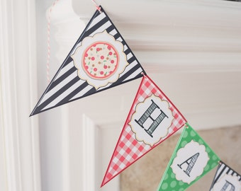 Pizza Party Birthday Banner // Pizza Making Party