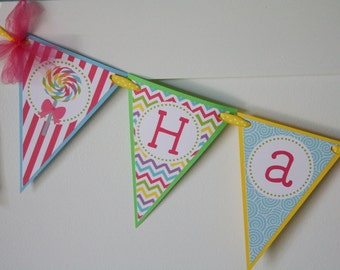 Sweet Shoppe and Candy Birthday Banner, Sweet Shoppe Birthday Party