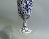 Blue and White Hummingbird Kiddush Cup