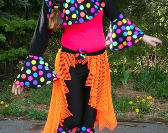 Colorful adult clown suit