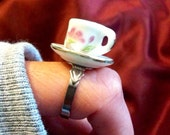 Teeny Little Teacup Ring