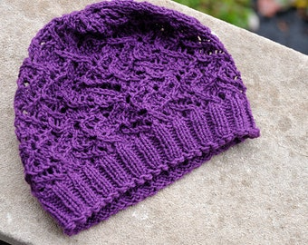 Night Jasmine Lace Hat Pattern - One Skein -  PDF - Digital Download