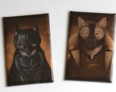 BatCat and Bane Kitty Magnets