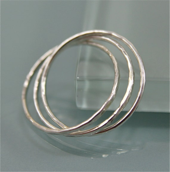 sterling silver rolling ring russian wedding band infinity