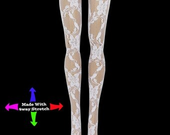 White Lace Doll Stockings for Blythe 11.5""