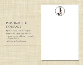 Personalized Notepad - CLASSIC MONOGRAM