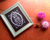 Very Old Friends- Hafiz Quote Chalkboard Print