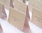 Escort Cards- Wedding place cards-Personalized Wedding Place Cards-Seating cards- Rustic Place Cards-Tented Place Cards-Set of 100
