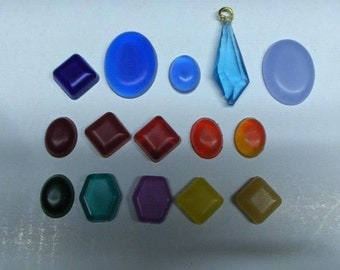 set of 12 rin gems/ jewels