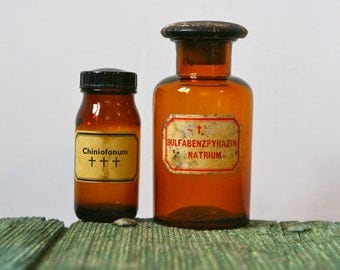 Pharmaceutical bottles with original labels