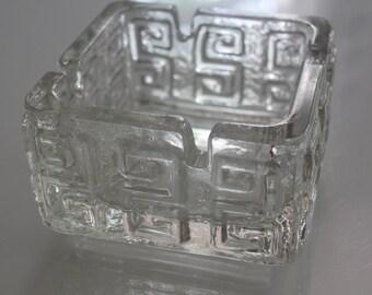 """Retro """"Taalari"""" ashtray by Riihimäki glass, Finland"""