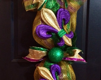 Mardi Gras Door Swag