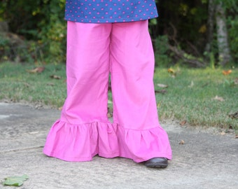 Several Colors Corduroy Solid Ruffle Pants Many colors Baby, toddler, and girls ruffle pants sz 12m, 18m, 24m/ 2, 3,4,5,6,7,8 navy pink