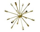 Mid Century Modern Round Sputnik Chandelier