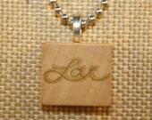 Scrabble Tile Necklace- Love- Love Necklace