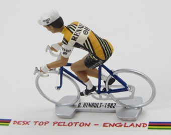 Bernard Hinault Tour De France - Renault - 1982  - Individually Handcrafted French Peloton Cycling Figure