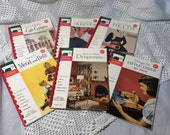 ON SALE, Vintage Sewing Booklets, Singer Sewing Library, Set of Six, How to Make Draperies, Sleeves, Belts, Cafe Curtains and More, 1960s