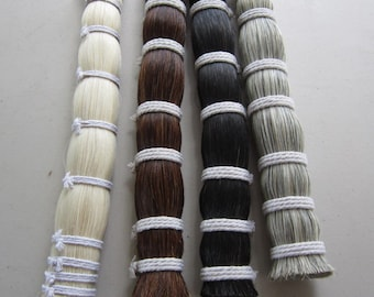 1 Pound  HORSE HAIR BUNDLE Crafts Pow  Wow  Regalia choose color