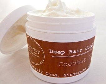 Moroccan Argan Oil and Shea Butter Deep Hair Conditioner with (Coconut Cream)