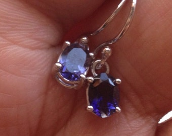 Stunning Iolite Dangles in Sterling Silver