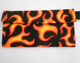 Red Flames Reusable Snack bag