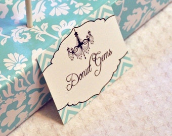 Breakfast at Tiffany's -  Food Tents - Instant Download