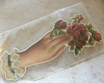 Victorian Roses Gift Tags, Victorian Bookmark