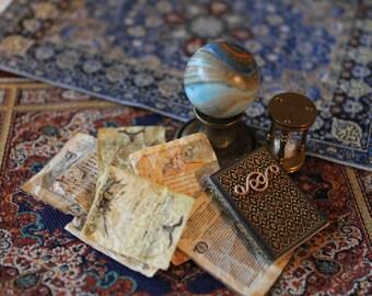 Dollhouse miniature  oriental filigree detail's  book