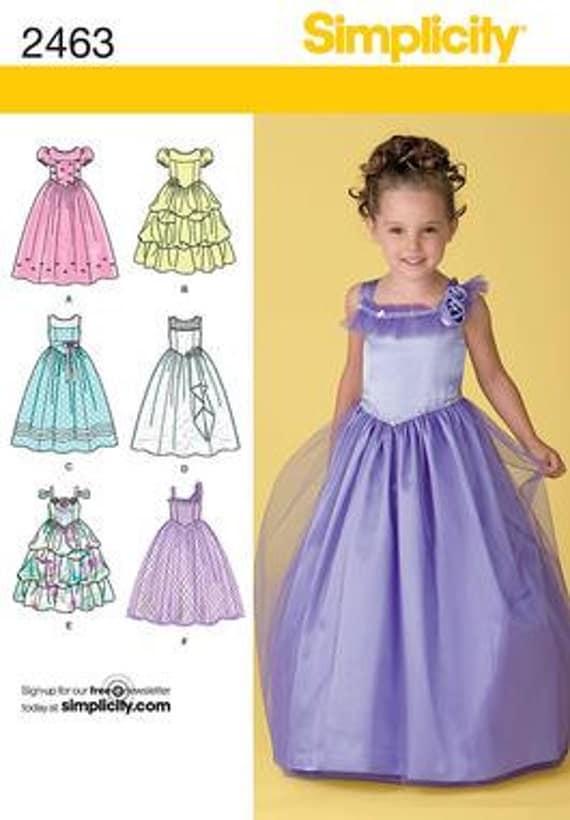 flower girl dress pattern simplicity 2463 sizes 5 6 7 8