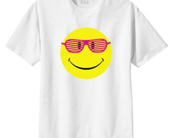 Neon Smiley Shades New T Shirt, S M L XL 2X 3X 4X 5X