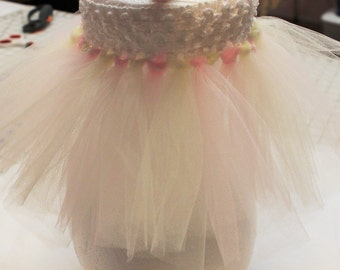 TUTU for newborn to 6 months, pink and white, so adorable. free shipping