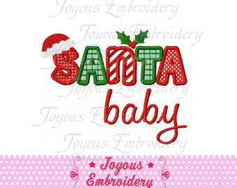 Instant Download Christmas Santa Baby Applique Machine Embroidery Design NO:1247