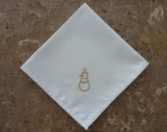 Embroidered Christmas Cloth napkins