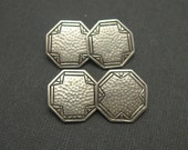 Art Deco Sterling Cufflinks Arts and Crafts Hammered Antique Jewelry H640