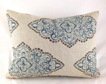 Lumbar Pillow Covers Decorative Pillows Blue Pillow Premier Prints Monroe Blend Cadet Oatmeal