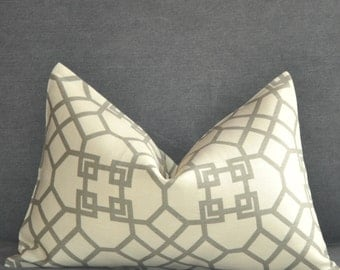 Pillow Cover,Decorative Pillow,Throw Pillow,Toss Pillow,Accent Pillow,Lumbar Pillow,Sofa Pillow,Gray Trellis,Home Furnishing, Home Decor