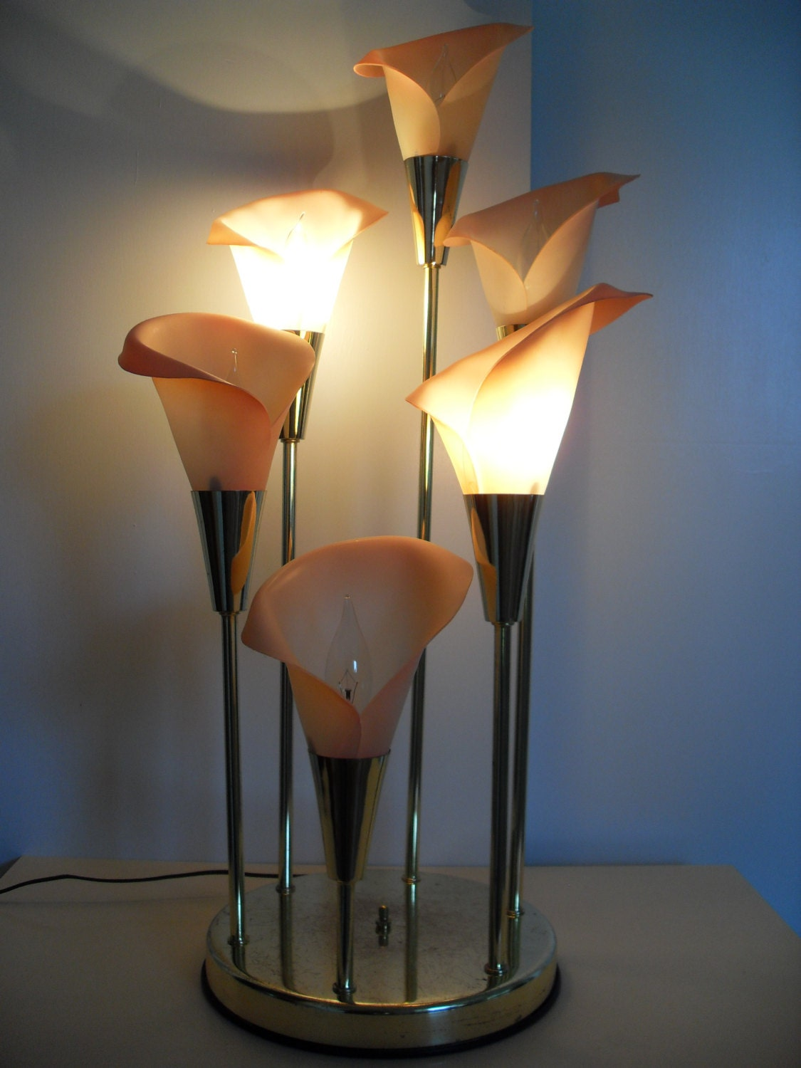 Vintage Calla Lily Lamp In Pink By Notsoantique On Etsy