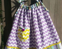 Chevron and stripes sundress baby to girls size 8