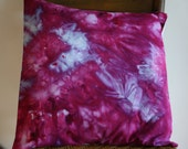 """Hand Dyed Pillow Cover ; Fuchsia Blue Pillow ; 16"""" x 16"""" Pillow ; OOAK Pillow ; Home Décor ; Accent Pillow ; Throw Pillow ; Hand Dyed Fabric"""