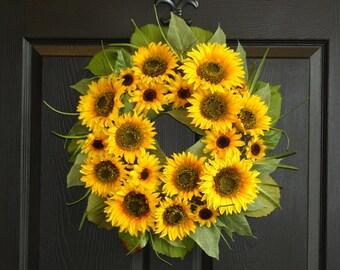 summer wreaths fall wreath welcome front door wreaths XL sunflower wreath decoration home living, decor housewares wreaths