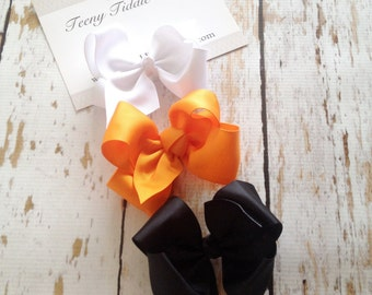 Halloween Hairbow Pack - Cowboy Boutique Hairbow Collection - Boutique Hairbow - Set of 3 Boutique Hairbows